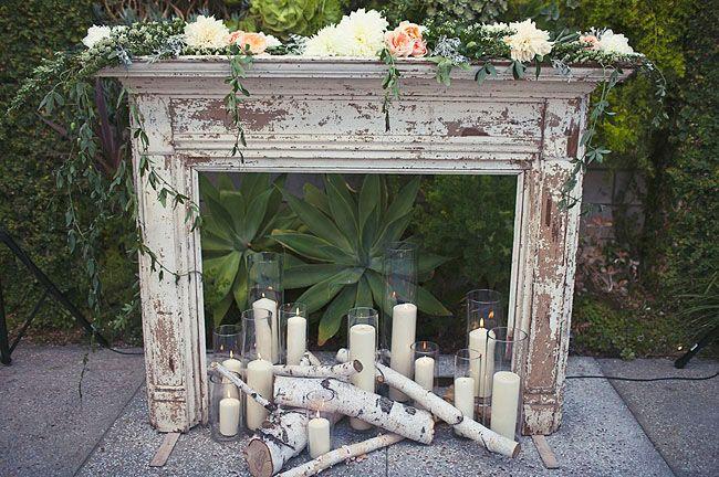 mantles decorated for a summer wedding | Wedding: Debbie + Charles | Green Wedding Shoes Wedding Blog | Wedding ...