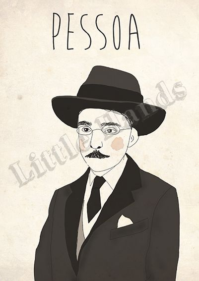 Pessoa  Digital Illustration  * Printed in recycled 300g paper   * Size A3 ( 42cm x 29.7cm ) - If you are looking for other size please get in touch!  * We are more than happy to create custom work, if you have a request please get in touch and we will do everything in our power to make your life/walls complete.