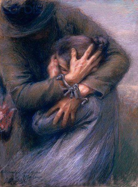 Giuseppe Mentessi (1857-1931) Italian Painter.  such emotion.