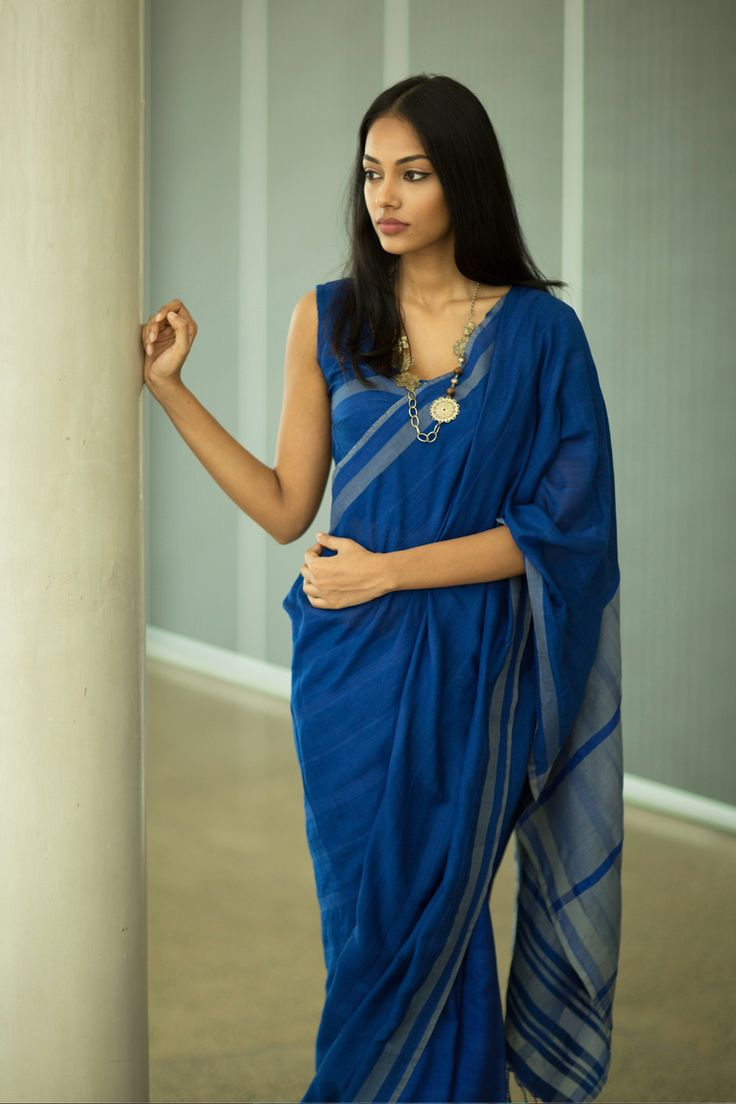 Blue Saphhire Saree from FashionMarket.lk