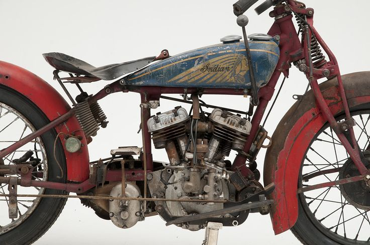 Indian Motorcycle, Charlie Chaplin 1914 | found on theoldmotor.com/