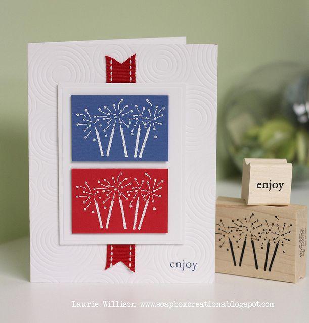 DeNami Red, White & Blue Sparklers card by @Design Unlimited Willison