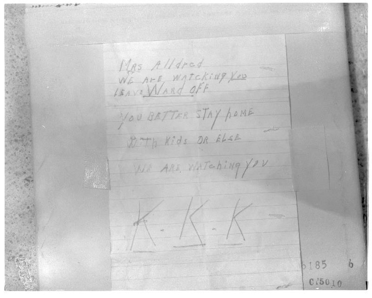 best klan images african americans american a threatening note written by the ku klux klan