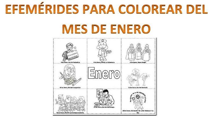 Efemérides del mes de enero para colorear - http://materialeducativo.org/efemerides-del-mes-de-enero-para-colorear/