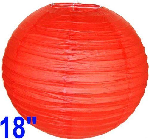 "Red Chinese/Japanese Paper Lantern/Lamp 18"" Diameter - Just Artifacts Brand by Just Artifacts. $2.09. Great for party and home decoration. Check Just Artifacts products for more available colors/sizes."