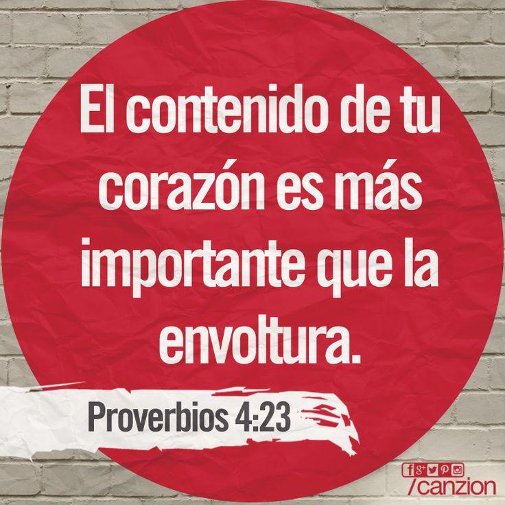 «Sobre todas las cosas cuida tu corazón, porque este determina el rumbo de tu vida». —Proverbios 4:23