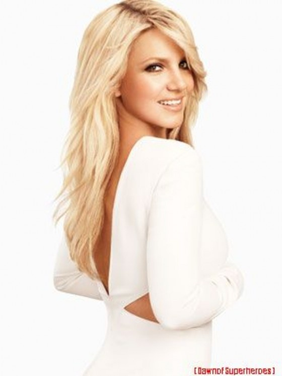 Britney Spears' hair style here...kind of already have something similar to this but like the added front layers she has.