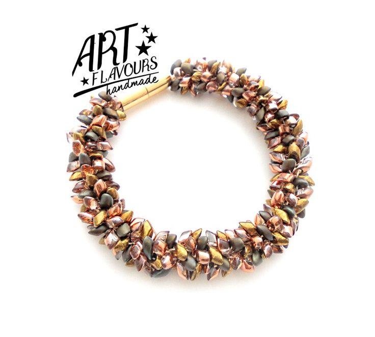 Beading - Kumihimo with Beads - made of Miyuki Long Magatama