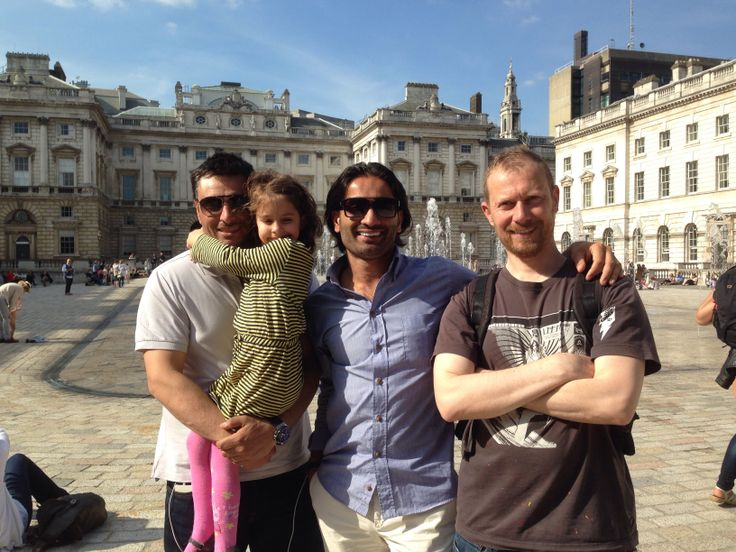 Somerset House with Steve, Cobie and Will