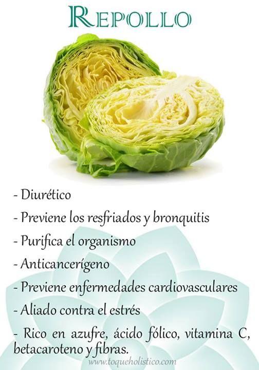 Diurético; previene los resfriados y bronquitis; purifica el organismo; anticancerígeno; previene enfermedades cardiovasculares; aliado contra el estrés; rico en azufre, ácido fólico, vitamina C, betacaroteno y fibras.