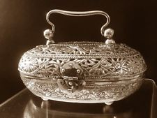 Chinese export silver hand warmer museum collection was$ 1200 1890-1900'