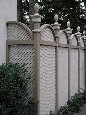 windsor style decorative lattice fence