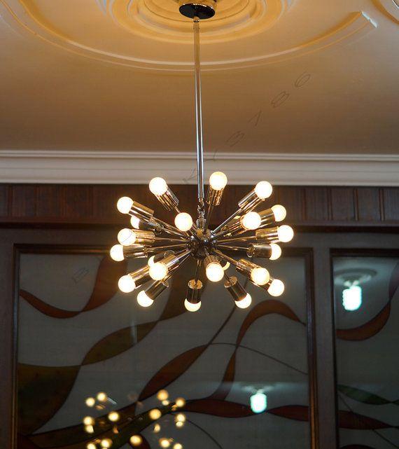 24 Arms Sputnik Starburst Light Fixture Chandelier By