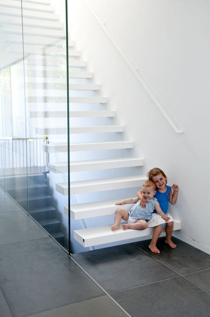 flotting stair with safety glass