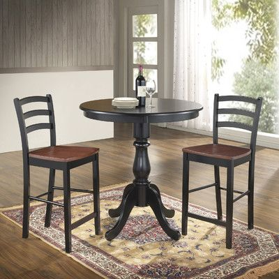 "Carolina Cottage Newport 36"" Pub Table & Reviews   Wayfair"