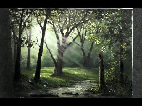 Paint with Kevin Hill - Sunray Forest - YouTube | Get ...