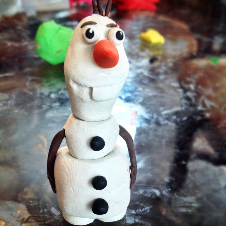olaf frozen clay figure my winter themed birthday party pinterest. Black Bedroom Furniture Sets. Home Design Ideas