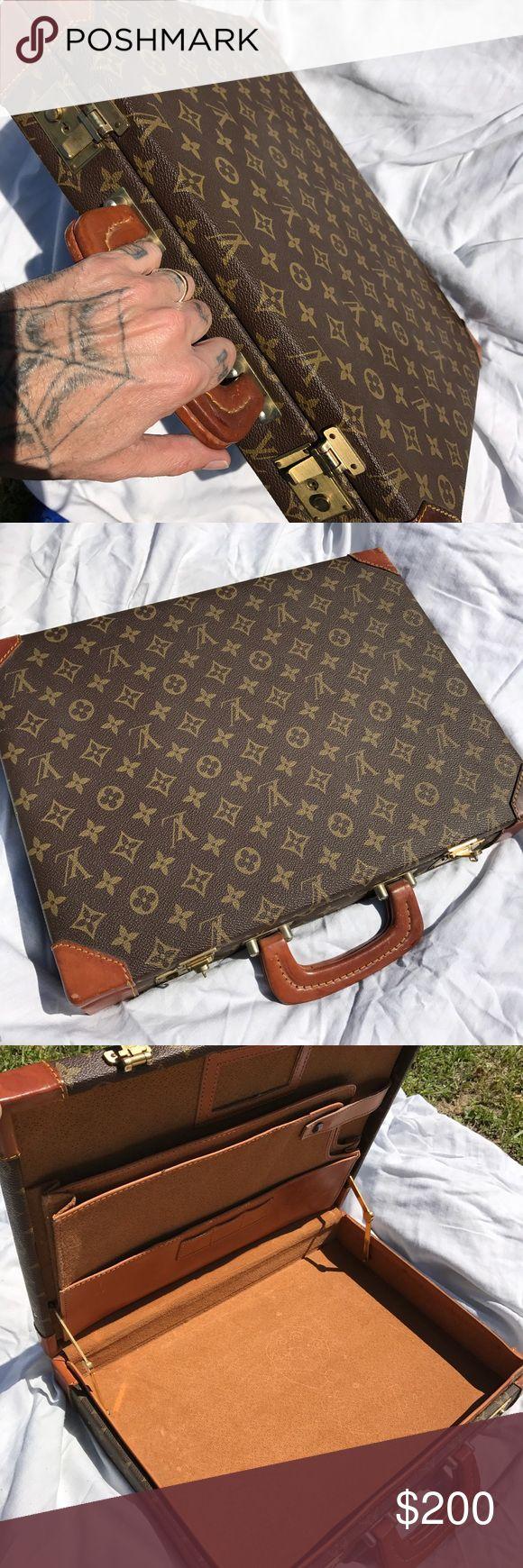 Louis Vuitton briefcase Antique Pure leather Louis Vuitton Accessories