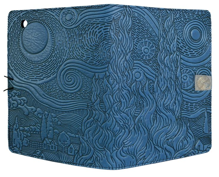 Leather iPad Mini Cover Case | Van Gogh Sky in Sky Blue