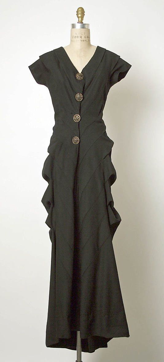 Dress, Evening  Elsa Schiaparelli (Italian, 1890–1973)  Date: ca. 1939 Culture: French