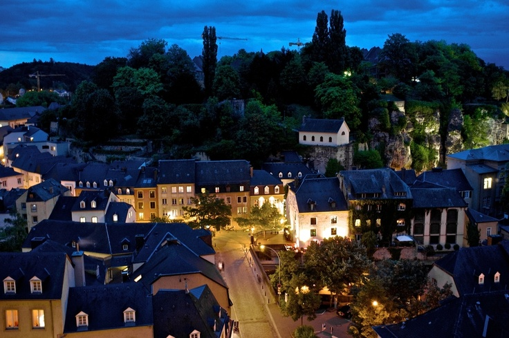 """Luxembourg """"Old Town"""" by night"""