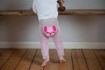 Baby Elephant Leggings in Pink and Taupe | Blade and Rose | Sprogs Inc