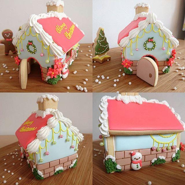 * ヘクセンハウス☆ この前作ったものがどうしても気に入らなくて、作り直しました! 今回は屋根は変なボーダーにせず、赤一色で!薄い水色とレンガの外壁がお気に入りです(^^) やっと納得のかわいいおうちが出来ましたー♪ * こちらのヘクセンハウスを作るレッスンは、12月16日(金)あと1名さま募集しています(^^) * #icing#icingcookies#cookies #sugarcookies#decoratedcookies  #christmas#xmas#holiday#snowman  #house#Hexenhaus#instafood#instasweets #アイシング#アイシングクッキー#クッキー #クリスマス#クリスマスツリー#ヘクセンハウス #お菓子の家#家#雪#冬#雪だるま#クッキーマン #アイシングクッキー教室#足柄上郡#大井松田#小田原#秦野