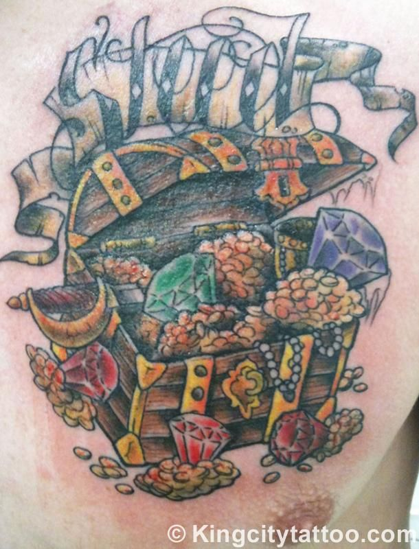 Treasure Chest Tattoo: 37 Best Treasure Tattoo Images On Pinterest