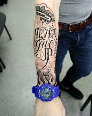 Resultado De Imagen Para Tatuajes En El Cuello Para Hombres Letras