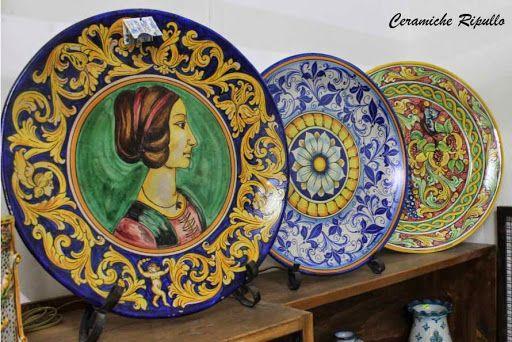 Piatti Ornamentali in ceramica Ceramiche Ripullo www.ceramicheripullo.com