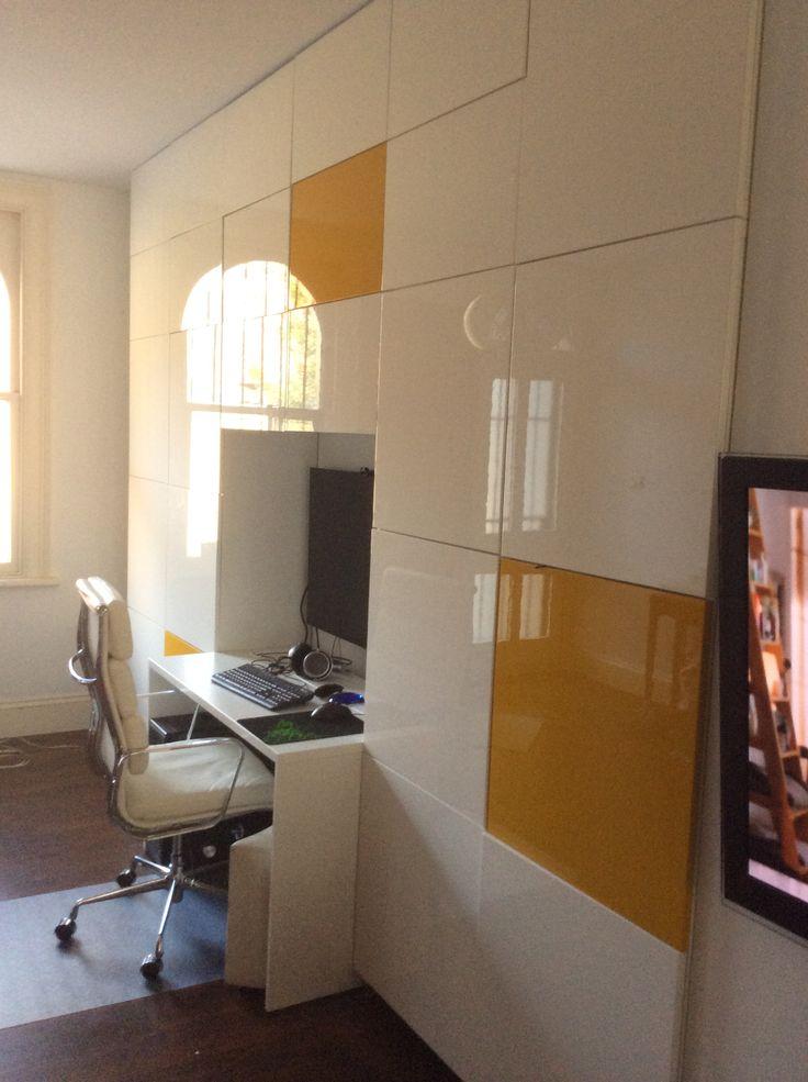 Floor To Ceiling Ikea Besta With Built In Study Nook