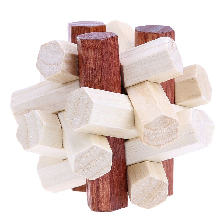 Educational Toys Kongming Luban Lock Chinese Traditional Toy Intellectual 3D Wooden Puzzles Toys For Baby Children  #Affiliate