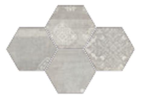 #Provenza #Gesso Esagona Patchwork Pearl Grey 25,5x29,4 cm R303x8R   Feinsteinzeug   im Angebot auf #bad39.de 189 Euro/qm   #Mosaik #Bad #Küche