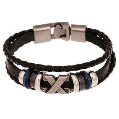 2016 New Fashion Genuine Leather Charm Bracelets For Women Men Vintage Beaded Braided Bracelets Bangles Wholesale