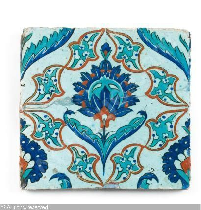 IZNIK CERAMIC, 17 > (Turkey) Title : CARREAU Date : 17 > CARREAU sold by Millon & Associés, Paris, on Monday, December 06, 2010