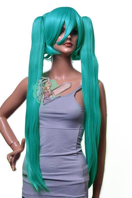 "30"" Miku Style Straight Ponytail Clipon Set-Character WigsEpicCosplay"