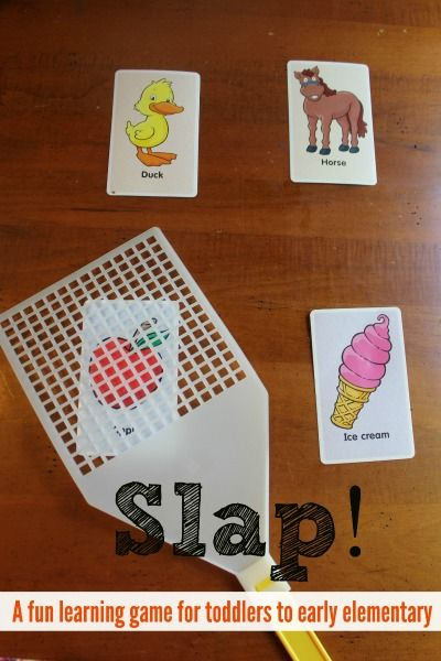 Slap! A Simple Flashcard Game - A fun learning game to help children review concept. Can be adapted for toddlers to school age children.