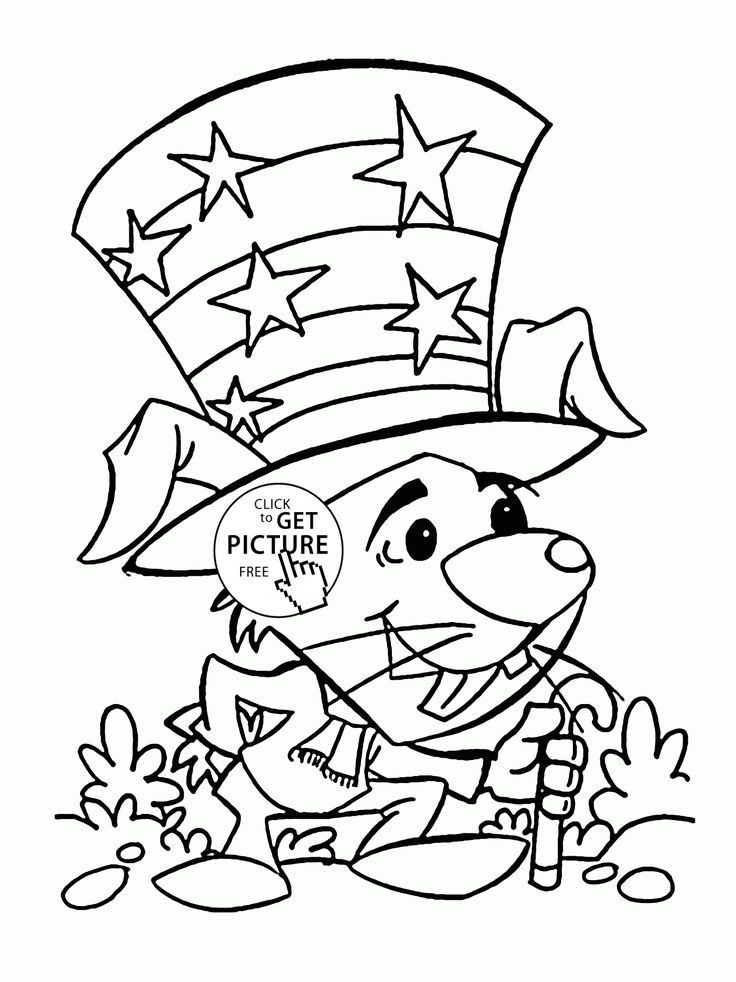 coloring pages 4 of july - photo#31