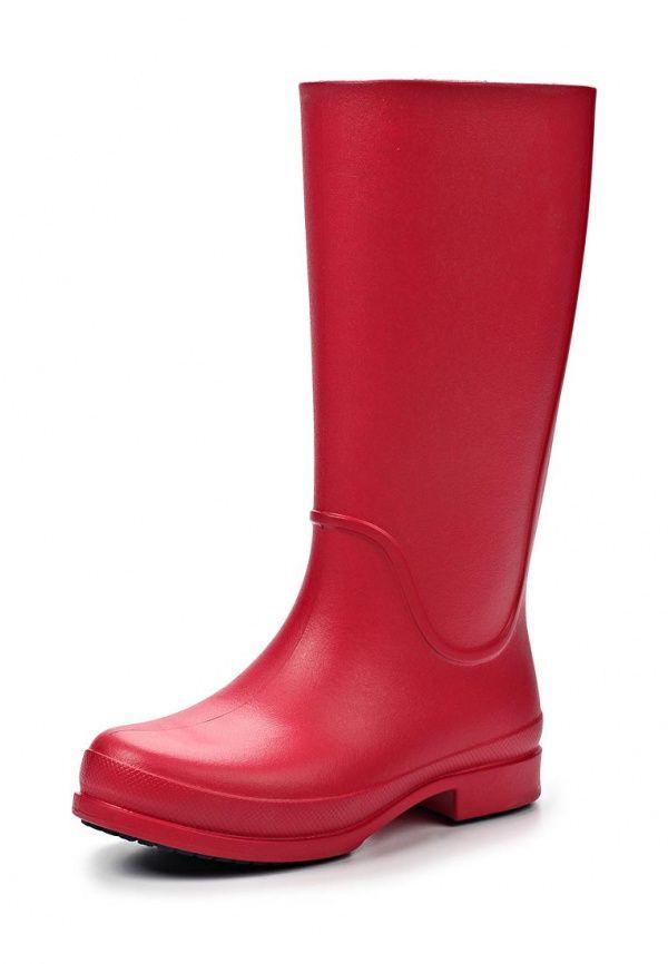 Сапоги Crocs / Крокс женские. Цвет: розовый. Материал: резина. Сезон: Осень-зима 2014/2015. С бесплатной доставкой и примеркой на Lamoda. http://j.mp/1uDu1ra