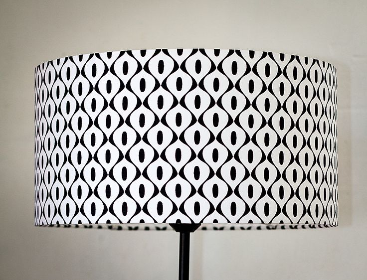 abat-jour lampe de chevet noir et blanc rétro