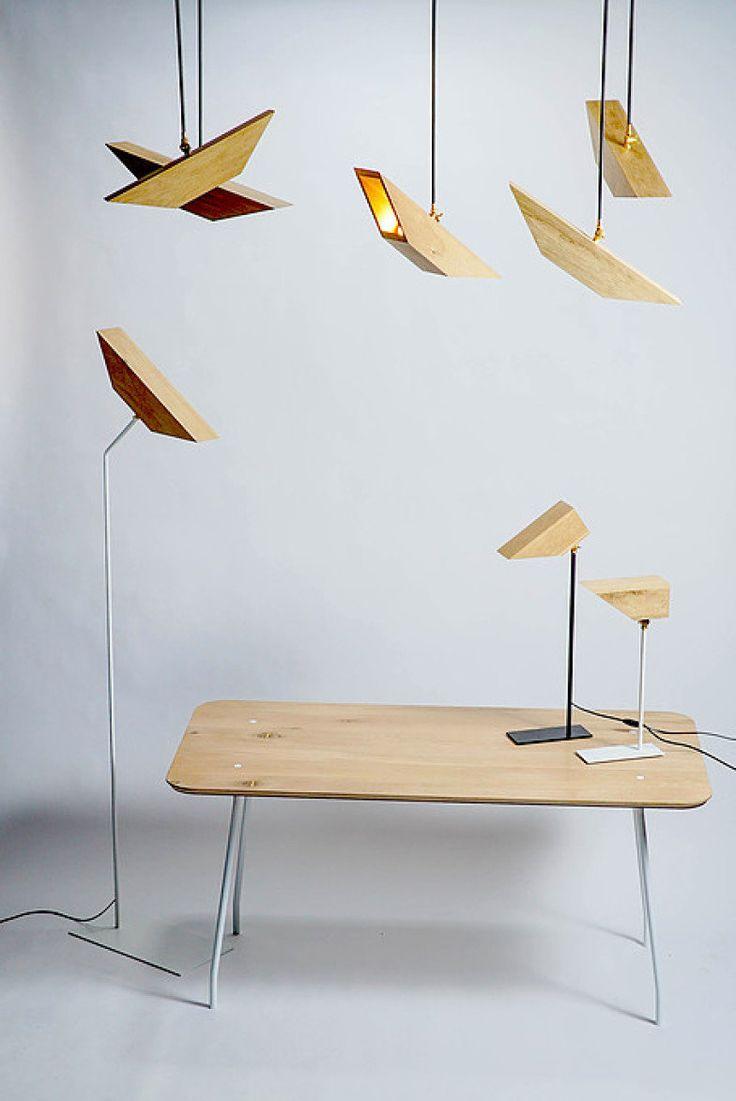 Luminárias De Designer Israelense Imitam Pássaros De Forma Minimalista
