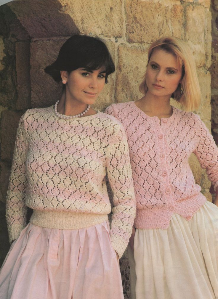 PDF Ladies Lacy Stitch Sweater & Cardigan Knitting Pattern : Womens 32, 34, 36 and 38 inch bust . 81, 86, 91 and 97 cm chest by PDFKnittingCrochet on Etsy