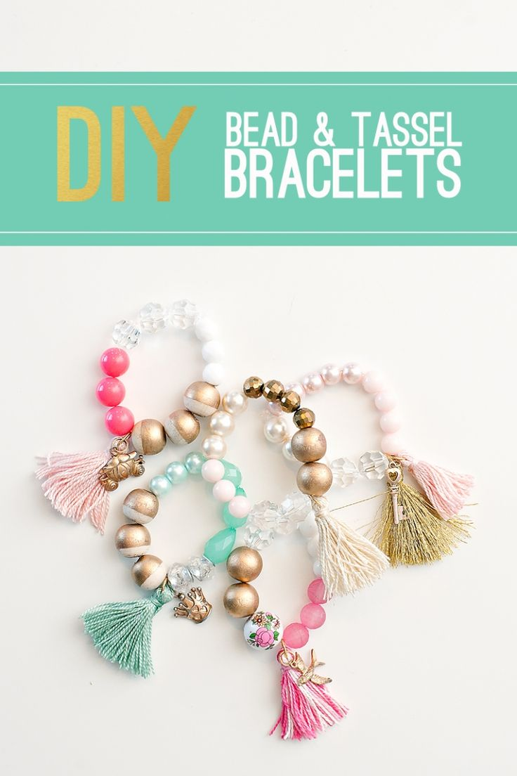 Tutorial for making beaded bracelets with tassels. Maggie Holmes blog