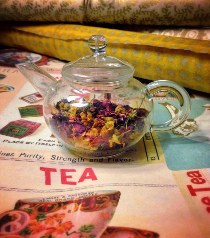Flower power tea anybody Xx