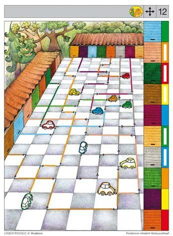 LOGICO PICCOLO   Sleduj a přesuň   Didaktické pomůcky a hračky - AMOSEK
