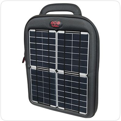 Spark Tablet Case - solar charger that can be hooked into your goods, re-charging them as you are out