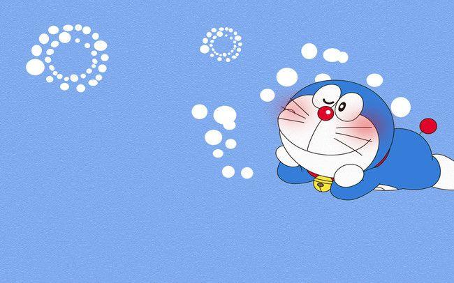 Doraemon Blue Background