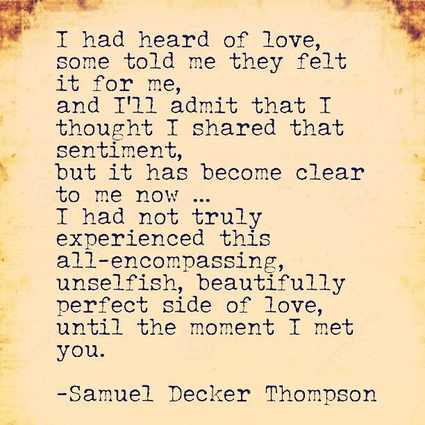I had heard of love, some told me they felt it for me, and I'll admit that I…