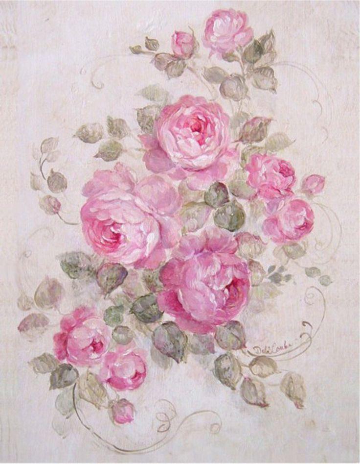 картинки розы в стиле шебби шик размер