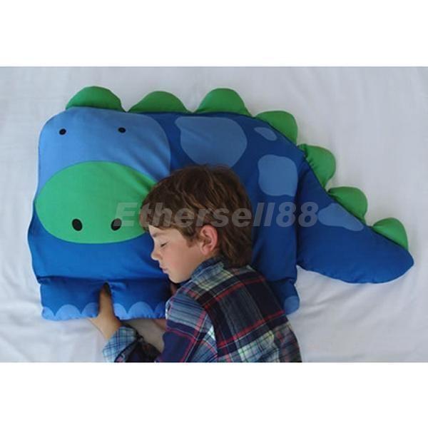Comfy Kids Child Cute Dinosaur Design Pillow Case Pillow Slip Cotton Hot Gift